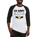 Army - My Wife is defending . Baseball Jersey