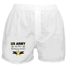 Army - My Wife is defending . Boxer Shorts