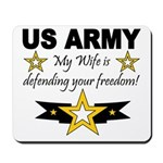 Army - My Wife is defending . Mousepad