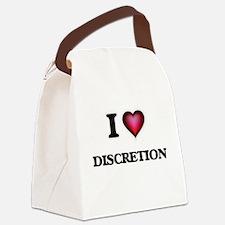 I love Discretion Canvas Lunch Bag