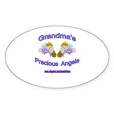GRANDMA'S PRECIOUS BOY ANGELS Oval Decal