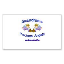 GRANDMA'S PRECIOUS BOY ANGELS Sticker (Rectangular