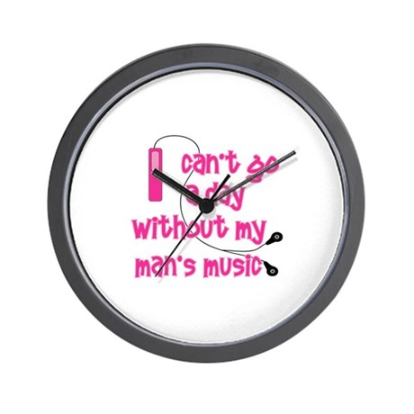 MP3 Mania Pink Wall Clock