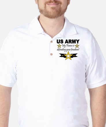 Army My Fiance is defending . Golf Shirt
