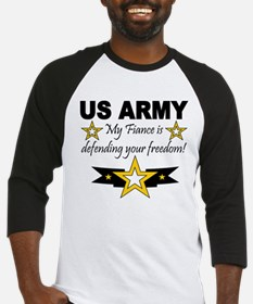 Army My Fiance is defending . Baseball Jersey