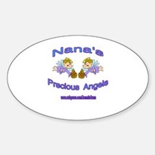 NANA'S PRECIOUS BOY ANGELS Oval Decal