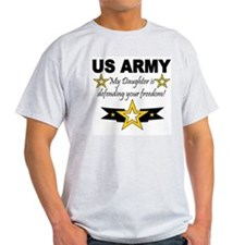 ARMy My Daughter is defending Ash Grey T-Shirt
