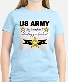 ARMy My Daughter is defending Women's Pink T-Shirt
