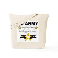 ARMy My Daughter is defending Tote Bag
