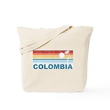 Retro Colombia Palm Tree Tote Bag