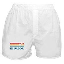 Retro Ecuador Palm Tree Boxer Shorts