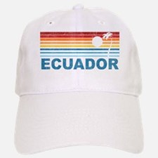 Retro Ecuador Palm Tree Baseball Baseball Cap