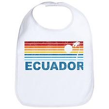 Retro Ecuador Palm Tree Bib