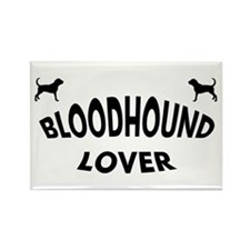 Bloodhound Lover Rectangle Magnet