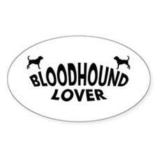 Bloodhound Lover Oval Decal
