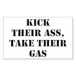 Kick Their Ass, Take Their Ga Sticker (Rectangular