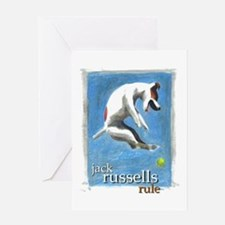 Jack Russells Rule Greeting Card