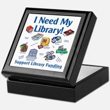 I Need My Library Keepsake Box