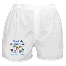 I Need My Library Boxer Shorts
