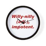 Willy-Nilly Wall Clock