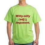 Willy-Nilly Green T-Shirt