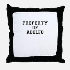 Property of ADOLFO Throw Pillow