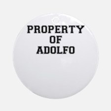 Property of ADOLFO Round Ornament