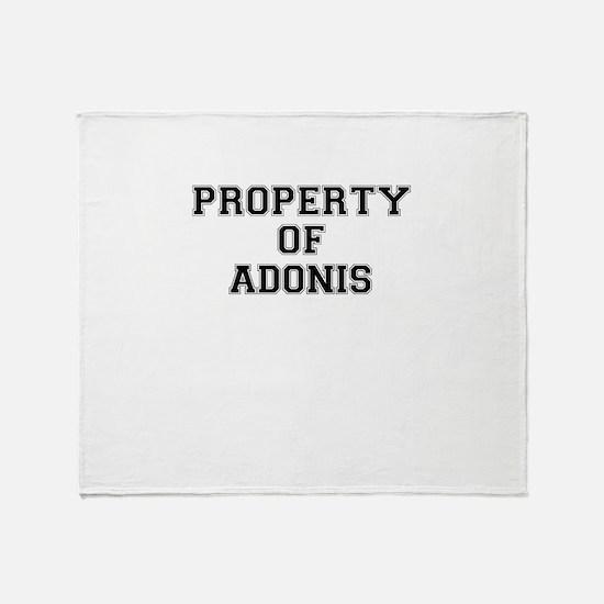 Property of ADONIS Throw Blanket