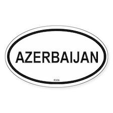 Azerbaijan Oval Decal