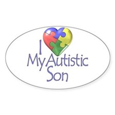 My Autistic Son Oval Stickers