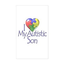 My Autistic Son Rectangle Stickers