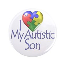 """My Autistic Son 3.5"""" Button (100 pack)"""