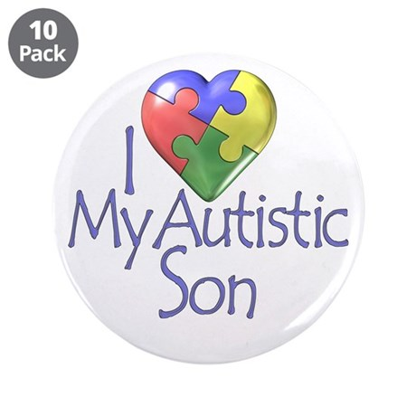 """My Autistic Son 3.5"""" Button (10 pack)"""