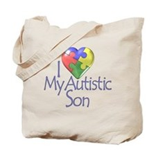 My Autistic Son Tote Bag