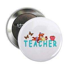 """Teacher Reading 2.25"""" Button"""