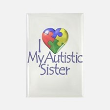 My Autistic Sister Rectangle Magnet (10 pack)
