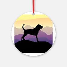 Bloodhound Purple Mountain Ornament (Round)