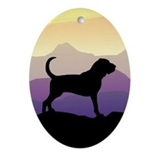 Bloodhound Purple Mountain Oval Ornament