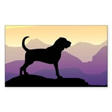Bloodhound Purple Mountain Rectangle Decal
