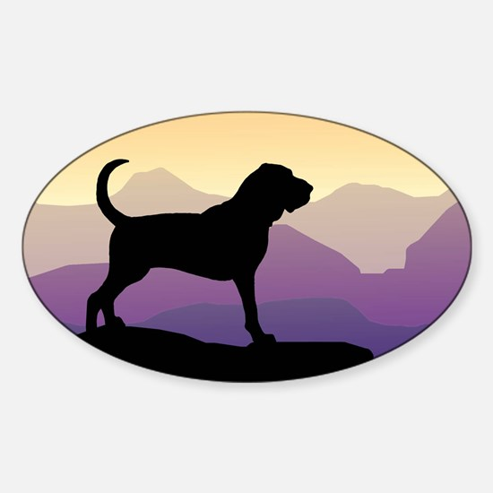 Bloodhound Purple Mountain Oval Decal