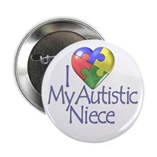 """My Autistic Niece 2.25"""" Button (10 pack)"""