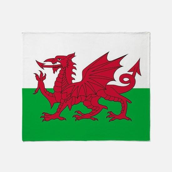 Flag of Wales Throw Blanket