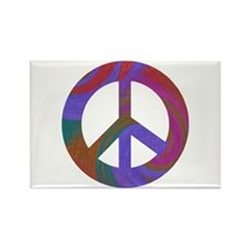 Peace Sign Swirl Rectangle Magnet