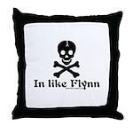 In Like Flynn Throw Pillow