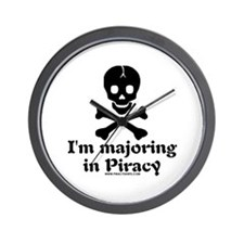 I'm Majoring In Piracy Wall Clock
