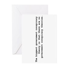 Conspiracy  Greeting Cards (Pk of 10)