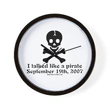 Talked Like a Pirate 07 Tran Wall Clock