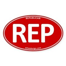 REP - Red Republican Decal