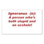 Ignoranus Rectangle Sticker