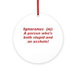 Ignoranus Ornament (Round)